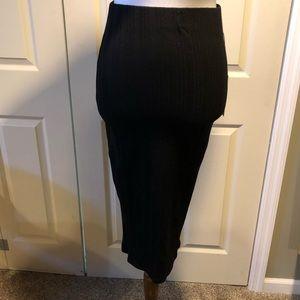 98dba295a NWT xs Jennifer Lopez stretchy black pencil skirt